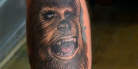chewbacca tattoo chewbacca the cure for bad tattoos