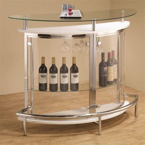 Glass Bar Coaster Contemporary Tempered Glass White Bar Unit Home