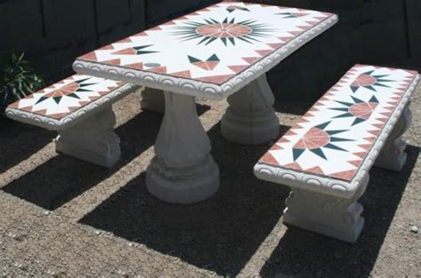 Concrete Patio Furniture Home Outdoor Cement Patio Tables