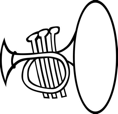 black and white clip trumpet clip black and white clipartfest cliparting