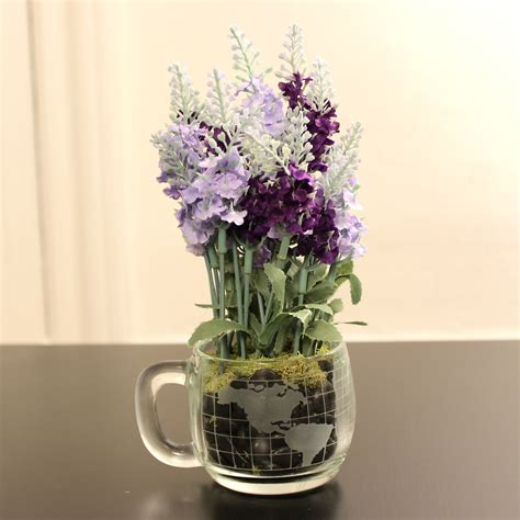 make a diy coffee mug flower arrangement