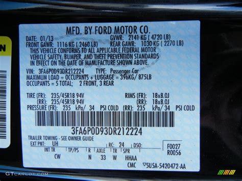 2013 ford fusion titanium awd color code photos gtcarlot