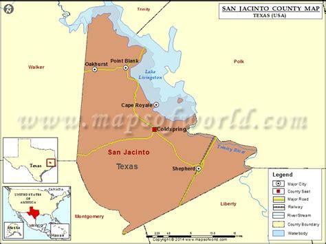 san jacinto texas map san jacinto county map texas