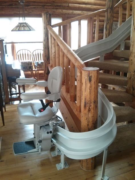 curved stair lifts bruno custom curved stairlift accessible systems