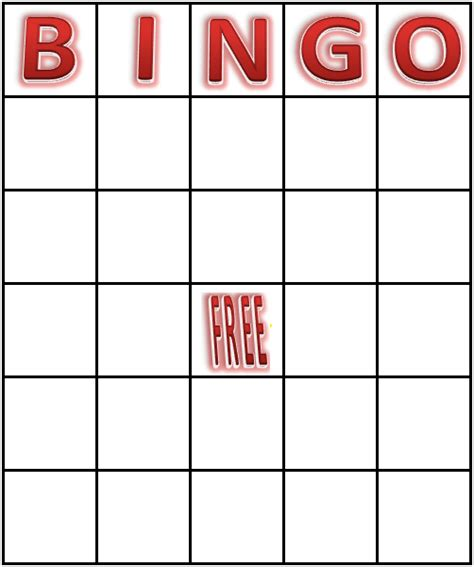 Bingo Card Template by Printable Blank Bingo Cards Vsmetalsgroup