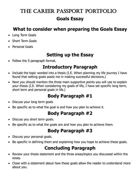 Mba Essay And Term Career Goals Exles by Career Goals Essay Sle Academic Objectives Essay Crew