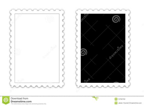 postage stamp template stock photo image 12762750