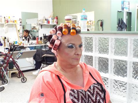 weekly shampoo set hair rollers sleep hair