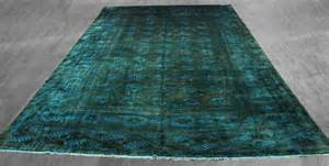 9x14 overdyed bokhara forest green teal rug 2555