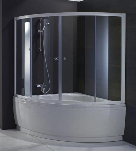 vasca angolare con box doccia sopravasca per vasca angolare