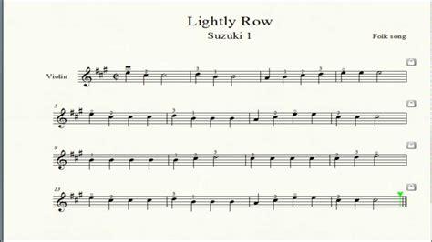 Lightly Row Suzuki Suzuki 1 1 Lightly Row Violin By Obm