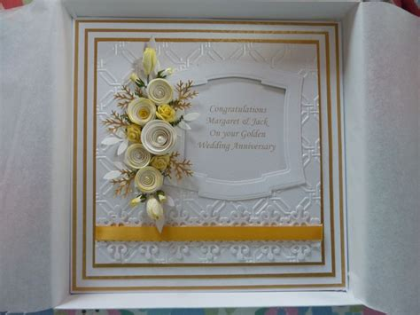 Handmade Golden Wedding Cards - golden wedding anniversary handmade card my cards