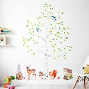 wall stickers notonthehighstreet home shop decals diy kits nursery zoo animal mural