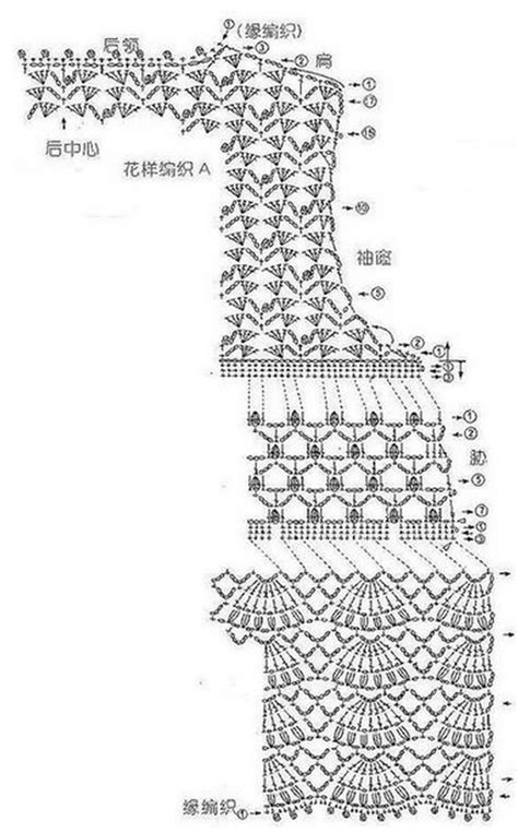 crochet lace diagram lace bolero crochet crochet kingdom