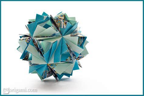 Modular Origami 30 Units - etna kusudama by sinayskaya diagram go origami