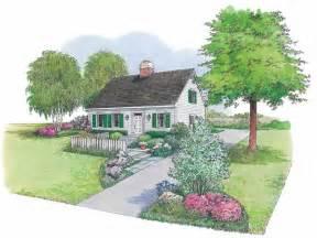 eplans landscape plan cape cod cottage from eplans