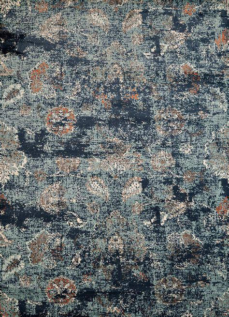 Distressed Blue Rugs - via vicosa blue distressed area rug the log furniture store