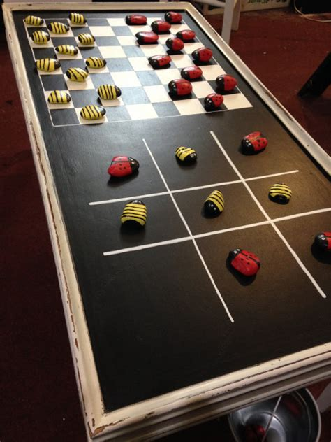 diy gaming table diy game tables the budget decorator