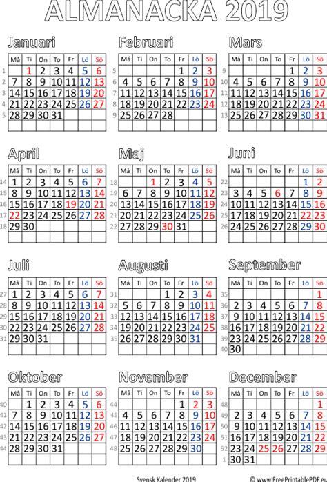 almanacka  se    calendar printable