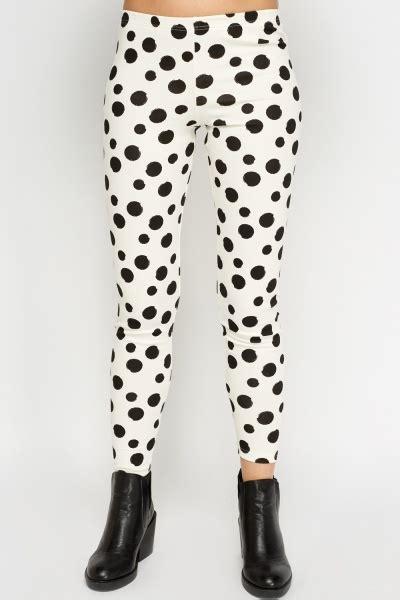 Legging Polkadot White polka dot white black just 163 5