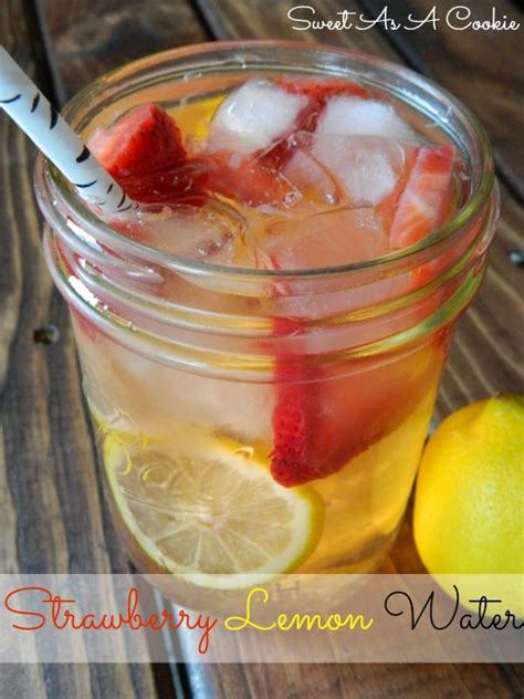 Strawberry And Pineapple Detox Water by Best 25 Lemon Water Ideas On Detox Water To
