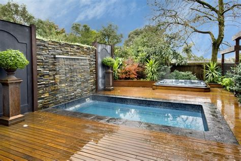 backyard leisure pool and spa small plunge pools design ideas awesome small backyard pools
