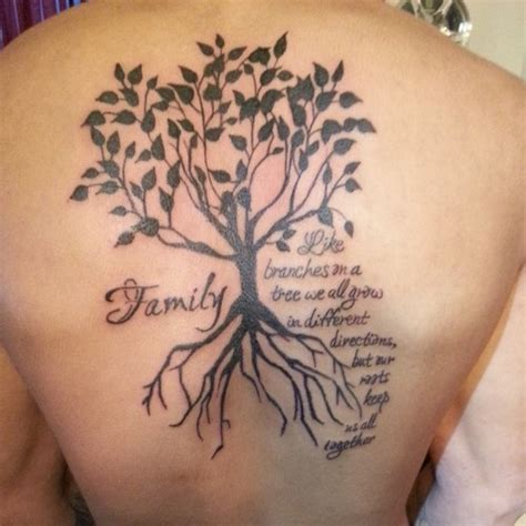gro 223 er familienbaum tattoo am r 252 cken tattooimages biz