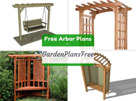 How To Build An Arbor Trellis by 8 Free Arbor Plans Free Garden Plans How To Build