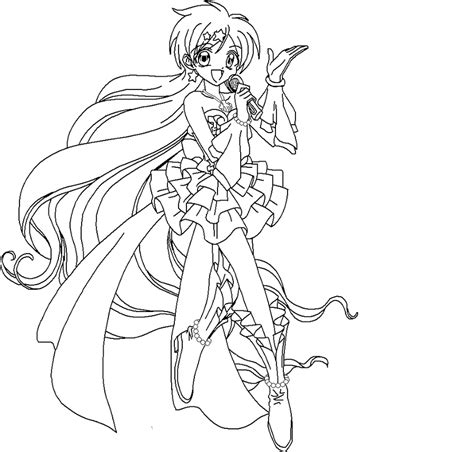 anime line art coloring pages coloring home