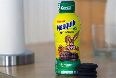 Choc Coin Milk Flavoured scout cookie flavored milk from nesquik