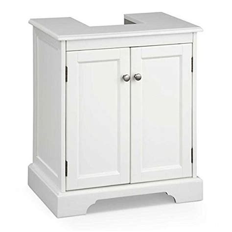 Bathroom Storage Pedestal Sink Pedestal Sink Storage Cabinet Space Saver White Vanity Bathroom Bath Shelf Ebay