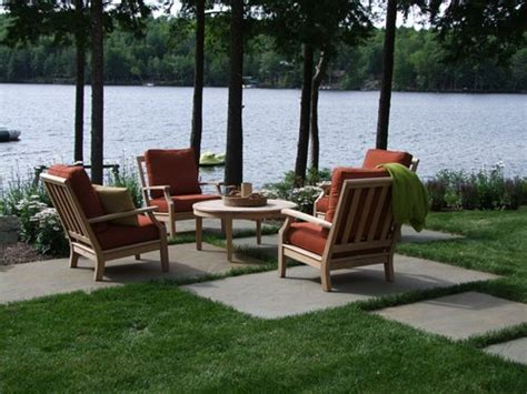 outdoor seating area new hshire lake front landscape landscaping network