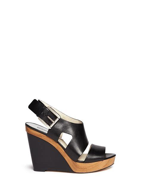 Sandal Wedges Wg12 Black 1 michael michael kors carla leather platform wedge sandals in black lyst