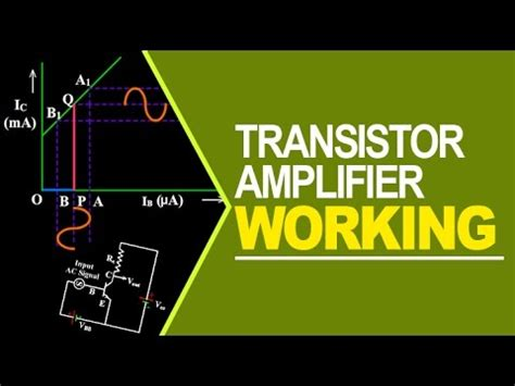 transistor lifier working animation transistor lifier working