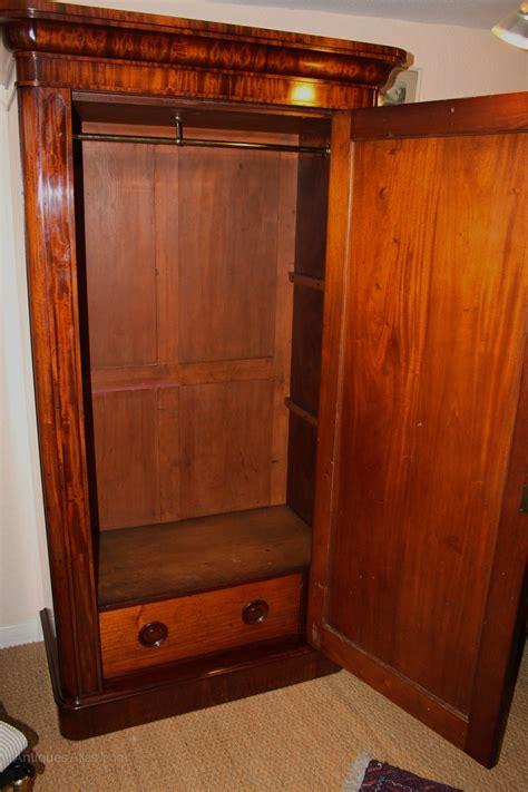 mahogany single door wardrobe antiques atlas
