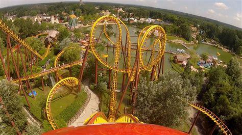 theme parks in paris goudurix roller coaster pov parc asterix paris france