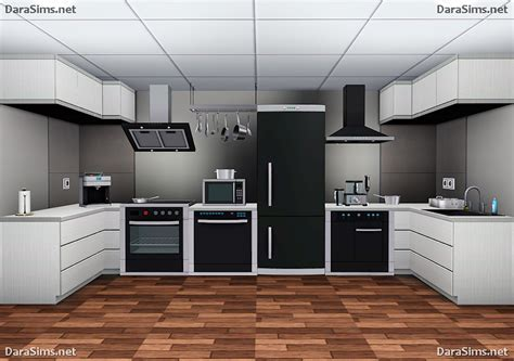 kitchen set by darasims teh sims
