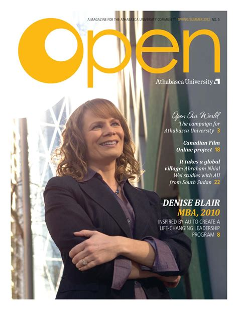 Athabasca Mba Admission by Open Magazine 5 2012 Athabasca By