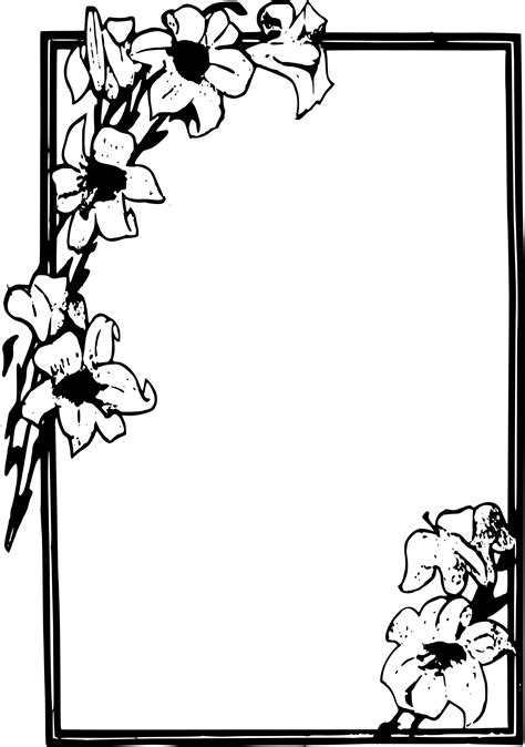 cornici tribali clipart simple flower frame