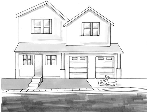 how to draw a 3d house drawing of house from up 3d drawing