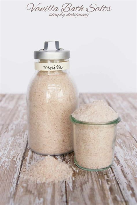 bathtub salts bath salt recipe scented with vanilla make it in minutes