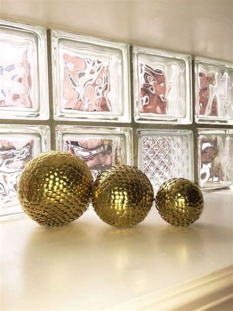home decor balls 3 vase filler balls gold sphere gold decor ball shelf