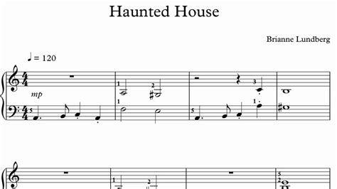 horror house music halloween piano sheet music haunted house youtube