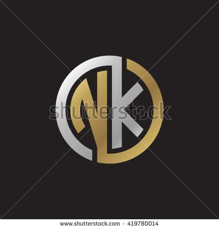 Emblem Kn k n logos stock images royalty free images vectors