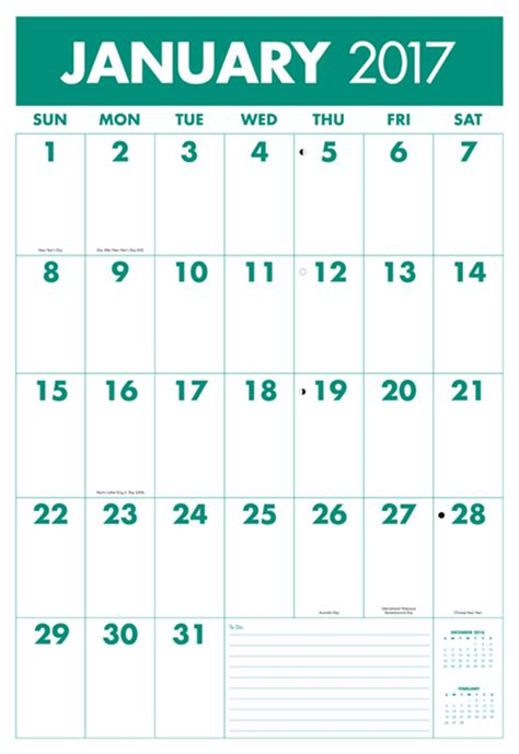 printable calendar grid 2017 best large print calendar choices