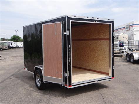 trailer swing doors 6 x 12 black cargo trailer with rear swing doors