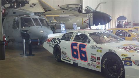 arca mobile arca fans pile into battleship museum in mobile arca racing