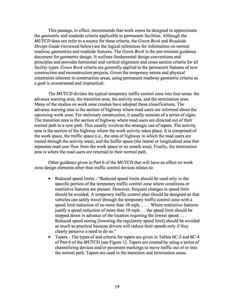 Speed Read Feed For February 20 2007 by Chapter 3 Current Work Zone Design Guidance Report