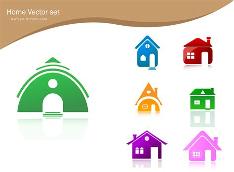 free vector home icons free vector 4vector