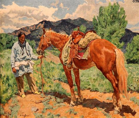 Painting For Kids taos indian in a pea field painting by walter ufer at taos